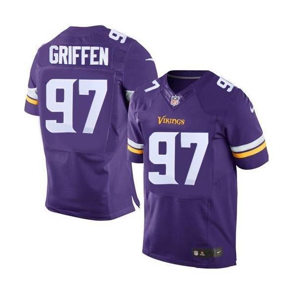 new products abfc4 c8c95 [Elite]Everson Griffen Minnesota Football Team Jersey(Purple, 2015 new)