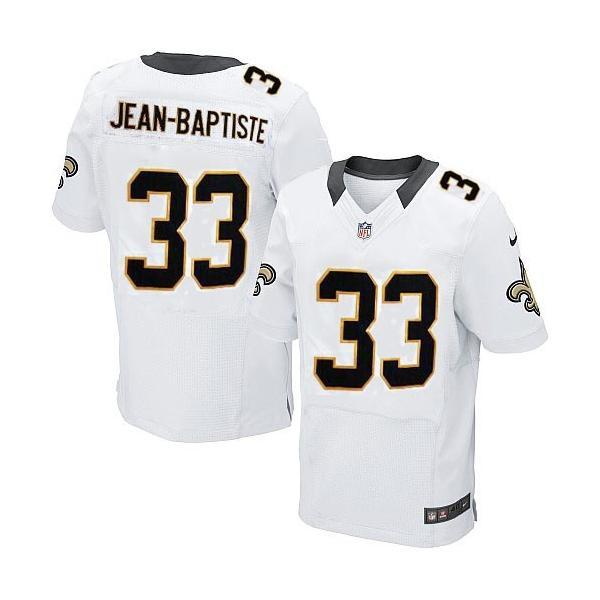 [Elite]Stanley Jean-Baptiste New Orleans Football Team Jersey(White)