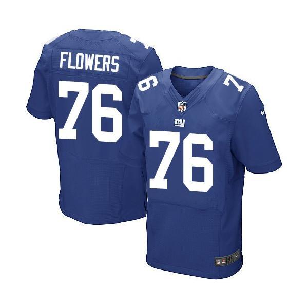 [Elite]Ereck Flowers New York Football Team Jersey(Blue)_Free ...