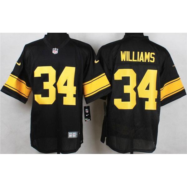 [Elite]DeAngelo Williams Pittsburgh Football Team Jersey(Black ...