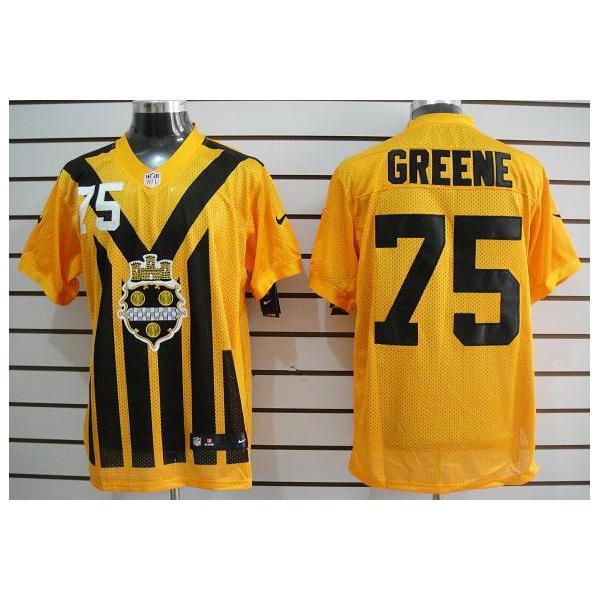 newest 958fc 176d8 [Elite]Joe Greene Pittsburgh Football Team Jersey(Yellow Throwback)