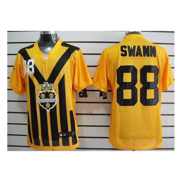 best service a85c8 b0e67 [Elite]Lynn Swann Pittsburgh Football Team Jersey(Yellow Throwback)