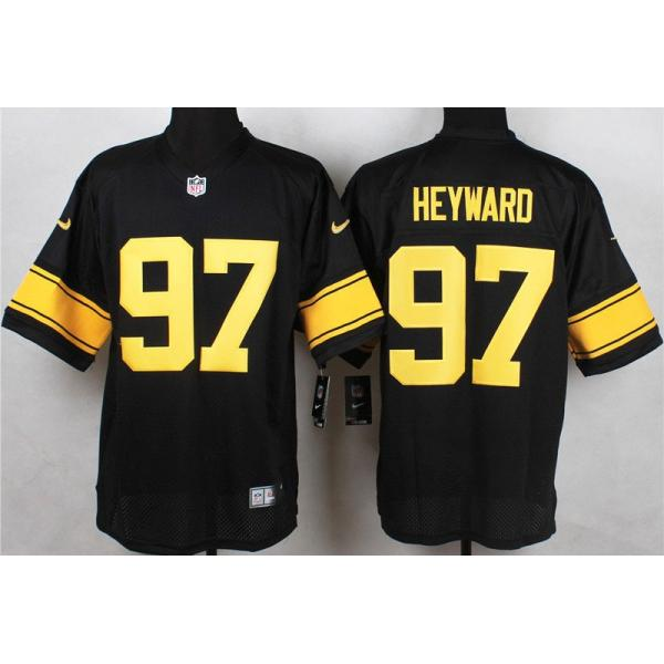 06d989379 97 black pittsburgh steelers game nike youth football jersey a4515 coupon  code for elite heyward pittsburgh football team jersey pittsburgh 97 cameron  ...