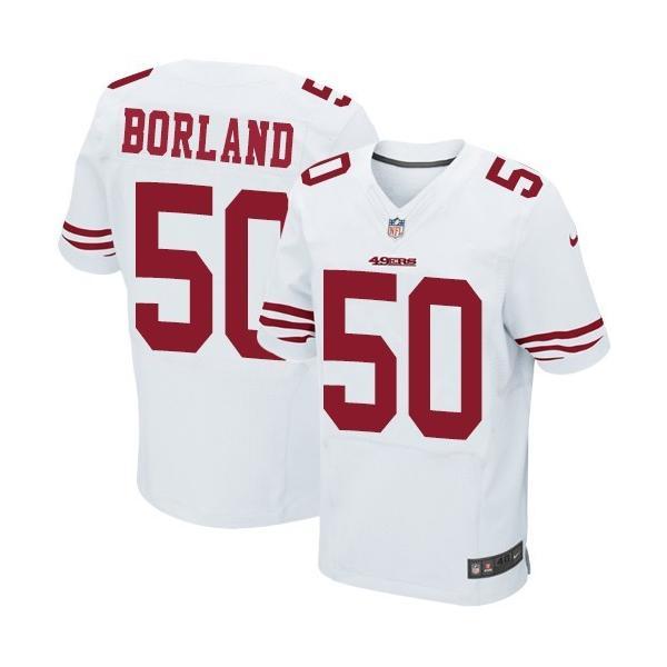 [Elite]Chris Borland San Francisco Football Team Jersey(White)_ ...