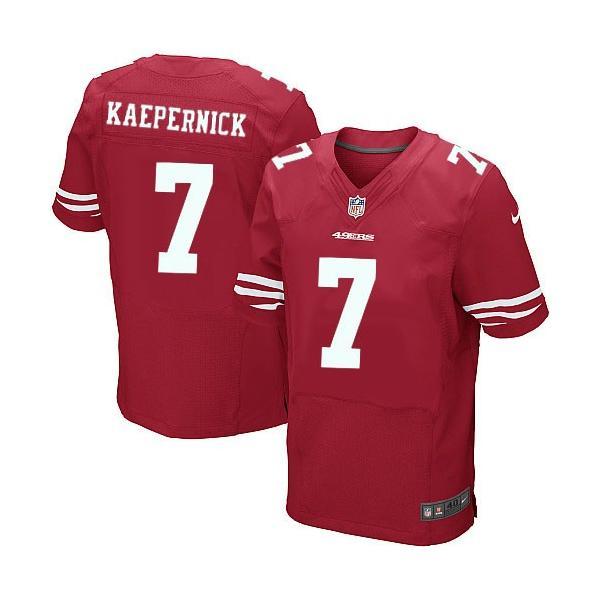 sale retailer f716d e091e [Elite]Colin Kaepernick San Francisco Football Team Jersey(Red)_Free  Shipping