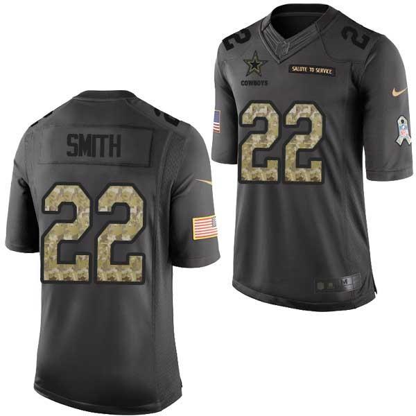 c87843b0181 [Mens/Womens/Youth]Smith Dallas Football Team Jerseys -Dallas #22 Emmitt  Smith Salute To Service Jersey