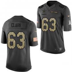 new arrival e2c4f d5832 [Mens/Womens/Youth]Clark Dallas Football Team Jerseys -Dallas #63 Jeremy  Clark Salute To Service Jersey
