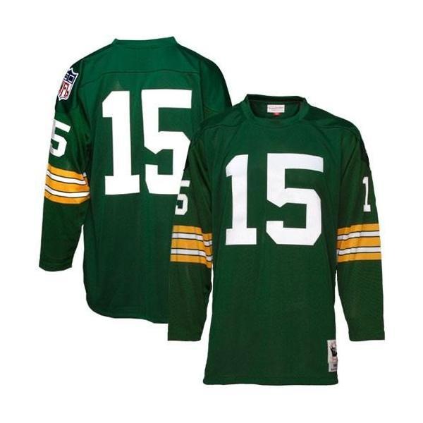 sale retailer e8cdc 05127 Bart Starr Green Bay Football Jersey Green Bay #15 Football Jersey