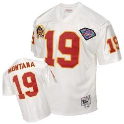 new arrival addcf 8e97d Joe Montana KC Football Jersey - KC #19 Football Jersey(White Throwback)