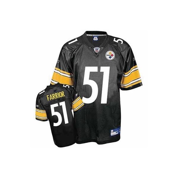 sports shoes 30632 ea563 James Farrior Pittsburgh Football Jersey Pittsburgh #51 Football Jersey