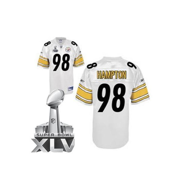 a90344697 Casey Hampton Pittsburgh Football Jersey - Pittsburgh  98 Football Jersey(white  2011 Super Bowl