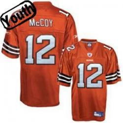 Colt McCoy Youth Football Jersey - 12 Cleveland Youth Jersey(Orange) 8c2602f51