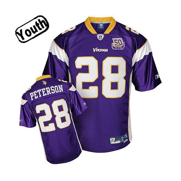 Adrian Peterson Youth Football Jersey -#28 Minnesota Youth Jersey ...