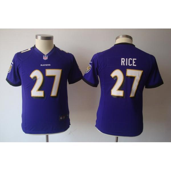 5510b325b96 [NEW] Ray Rice Youth Football Jersey -#27 Baltimore Youth Jerseys (Purple