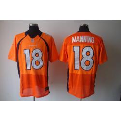 separation shoes c92c5 15694 [Elite] Peyton Manning Football Jersey -Denver #18 Football Jersey(Orange)