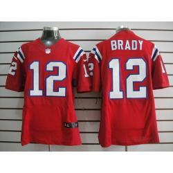 los angeles 05e39 03dbb [Elite] Tom Brady Football Jersey -New England #12 Football Jersey(Red)