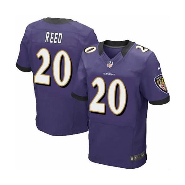 [Elite] Ed Reed Football Jersey -Baltimore #20 Jersey(Purple)