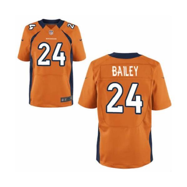 [Elite] Champ Bailey Football Jersey -Denver #24 Jersey(Orange)