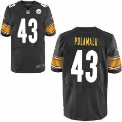the latest c8590 6689d [Elite] Troy Polamalu Football Jersey -Pittsburgh #43 Football Jersey(Black)