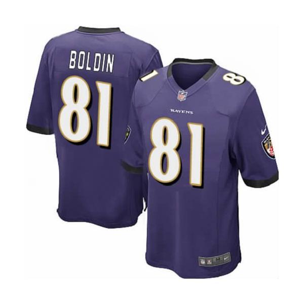 [Game]Baltimore #81 Anquan Boldin Football Jersey(Purple)