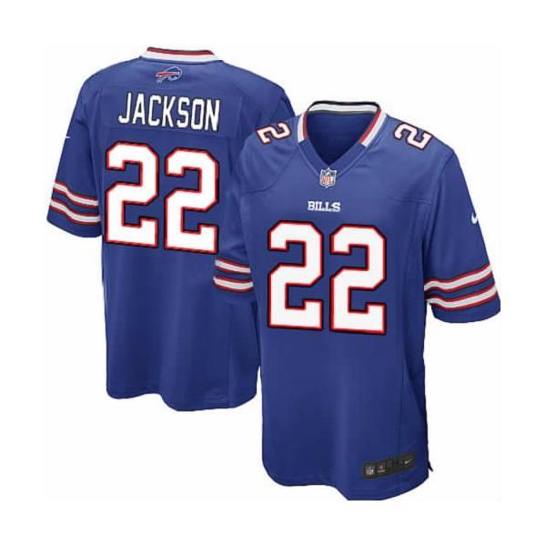 [Game]Buffalo #22 Fred Jackson Football Jersey(Blue)