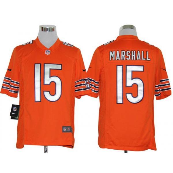 [Game]Chicago #15 Brandon Marshall Football Jersey(Orange)