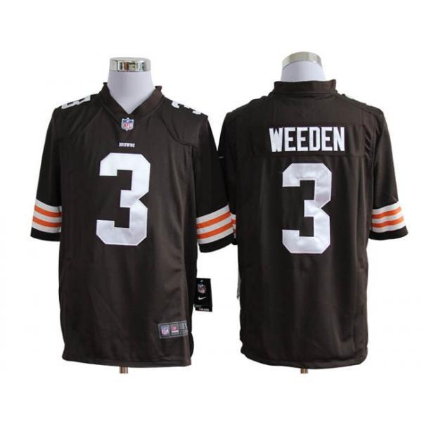 [Game]Cleveland #3 Derek Anderson Football Jersey(Brown)