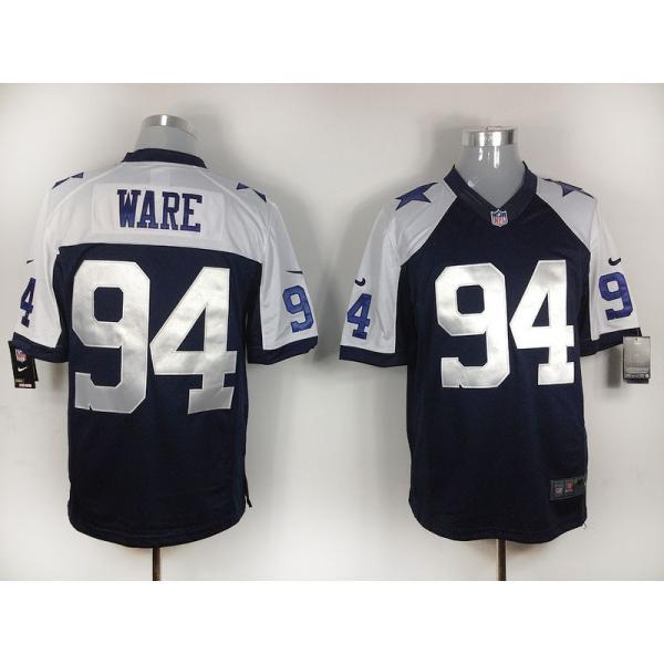 new concept 0aa5b 0003e [Game]Dallas #94 DeMarcus Ware Football Jersey(Blue Thanksgiving)