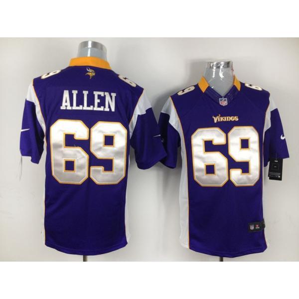 [Game]Minnesota #69 Jared Allen Football Jersey(Purple)