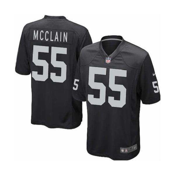 [Game]Oakland #55 Rolando McClain Football Jersey(Black)