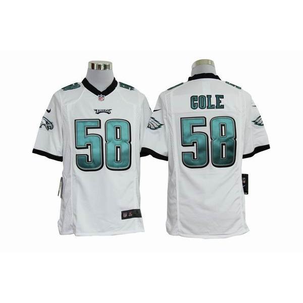 [Game]Philadelphia #58 Trent Cole Football Jersey(White)