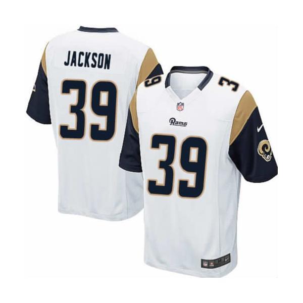 [Game]St. Louis #39 Steven Jackson Football Jersey(White)