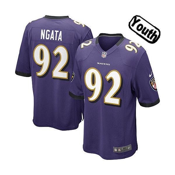 [Sewn-on,Youth]Haloti Ngata Baltimore Youth Football Jersey(Purple)