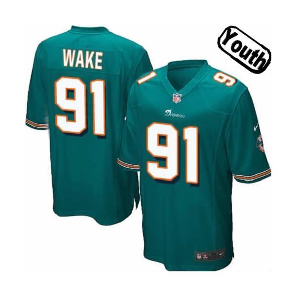 save off 0bbc8 e182b [Sewn-on,Youth]Cameron Wake Miami Youth Football Jersey(Green)