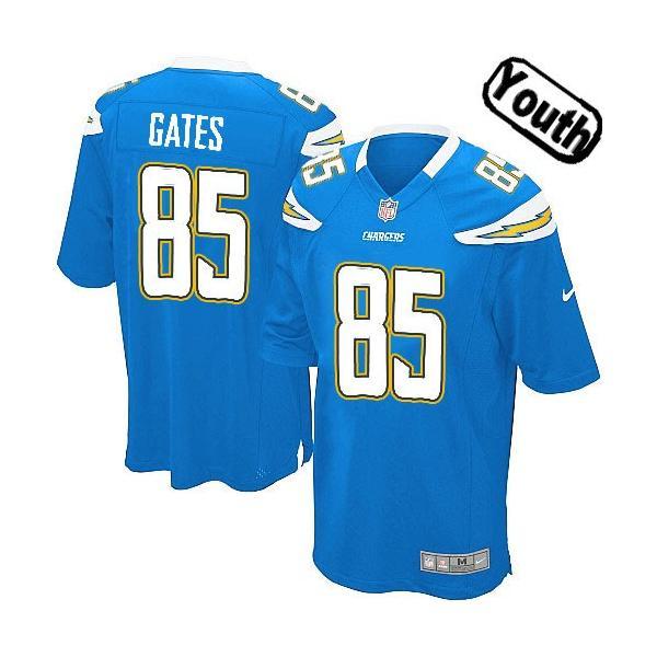 [Sewn-on,Youth]Antonio Gates San Diego Youth Football Jersey ...