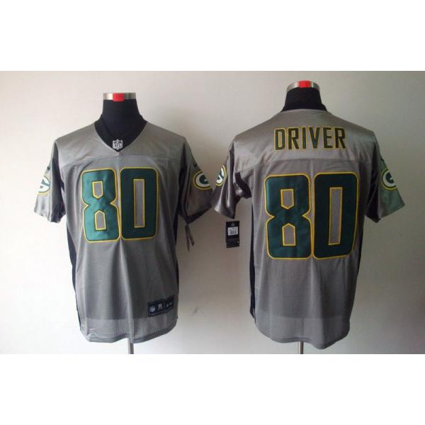 wholesale dealer f495e 75fdf Green Bay #80 Donald Driver Football Jersey Gray-Shadow