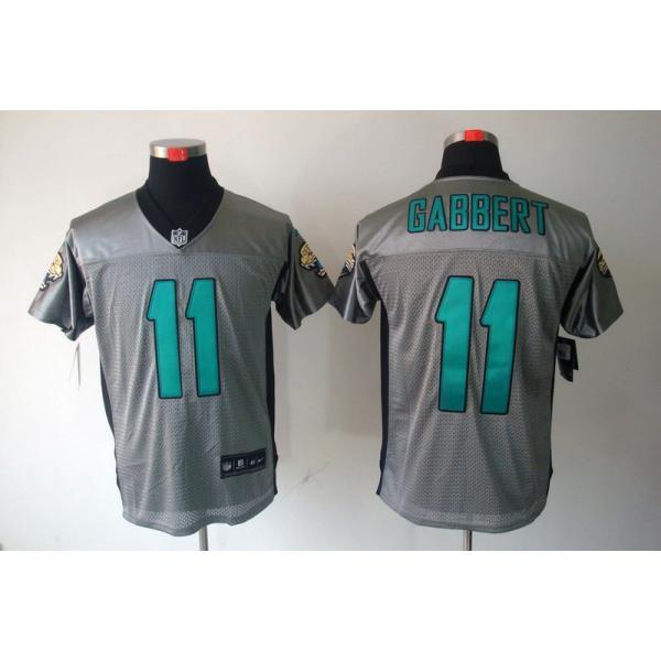 bf3ef954e26 [NEW,Gray-Shadow]Blaine Gabbert Football Jersey -Jacksonville #11 Gray