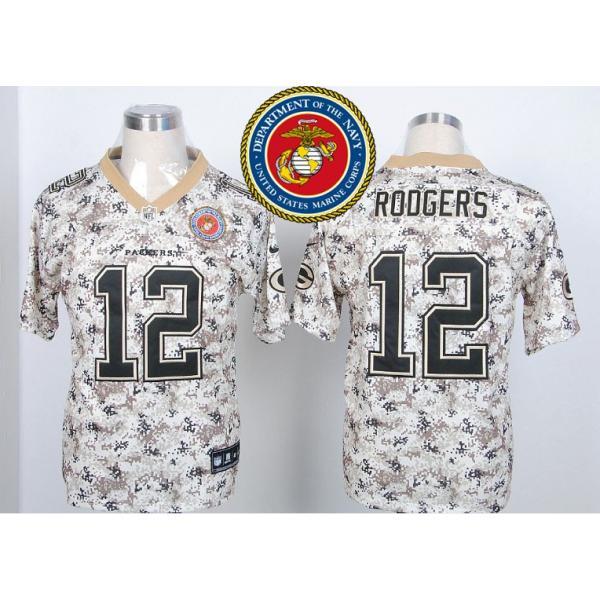 Green Bay #12 Aaron Rodgers Desert Digital Camo football jersey ...