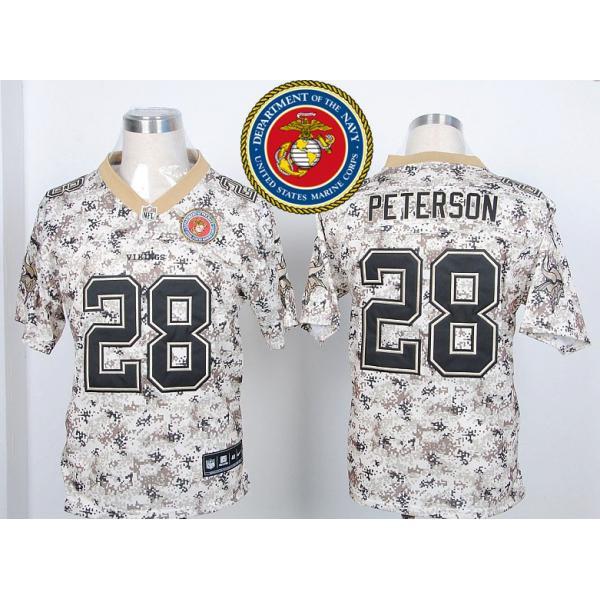 Minnesota #28 Adrian Peterson Desert Digital Camo football jersey ...