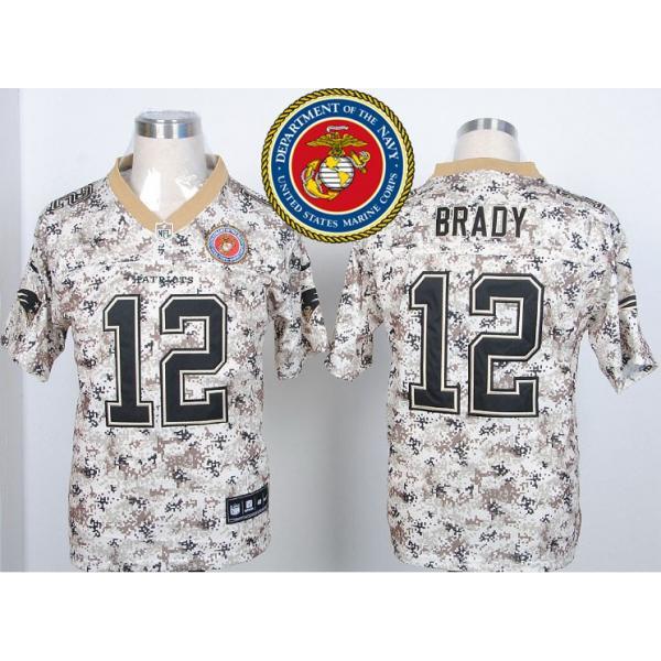 quality design 313ce 6d0b6 New England #12 Tom Brady Desert Digital Camo football jersey on sale