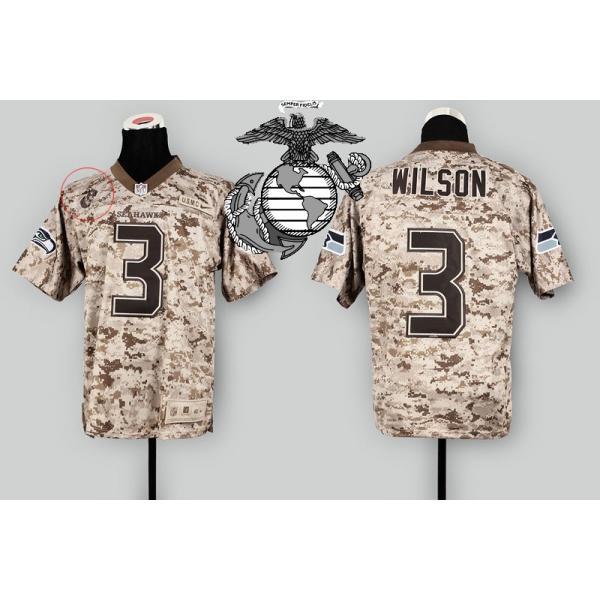Seattle #3 Russell Wilson Desert Digital Camo football jersey on sale