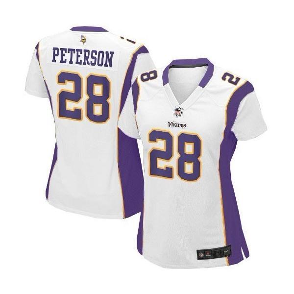 Minnesota #28 Adrian Peterson womens jersey Free shipping