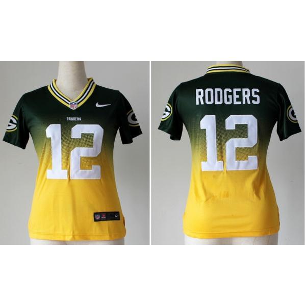 buy online d5b13 f3d09 [Drift Fashion]Green Bay #12 Aaron Rodgers womens jersey Free shipping