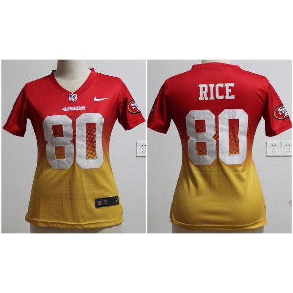 newest 2ff4f 14f58 [Drift Fashion]SF #80 Jerry Rice womens jersey Free shipping