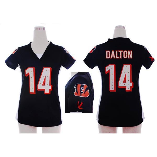 [Fashion I]Cincinnati #14 Andy Dalton womens jersey Free shipping
