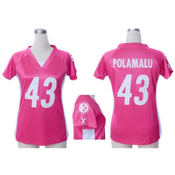 6c4118fdc91  Fashion I  POLAMALU Pittsburgh  43 Womens Football Jersey - Troy Polamalu  Womens Football