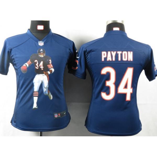 Portrait Fashion  PAYTON Chicago  34 Womens Football Jersey - Walter  Payton Womens Football effff807f