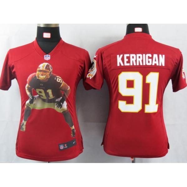 new styles edc63 20774 [Portrait Fashion]Washington #91 Ryan Kerrigan womens jersey Free shipping