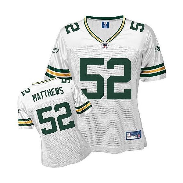 the best attitude 5f9c6 aa293 [Rbk Team Jersey]Green Bay #52 Clay Matthews womens jersey Free shipping