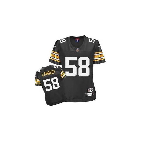 online retailer d2ed1 c95ce [Rbk Team Jersey]Pittsburgh #58 Jack Lambert womens jersey Free shipping